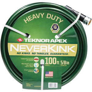Neverkink 5/8 in. x 100 ft. Heavy Duty Garden Hose  Crush-resistant coupling