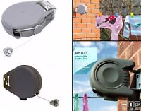 Washing Line Wall Mounted Retractable Laundry Clothes Airer 15 Meter Assorted