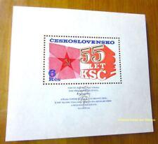 EBS Czechoslovakia 1976 - 55th Anniversary Communist Party - Block 32 MNH**