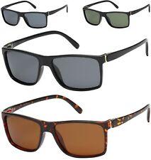 New Black Sunglasses Mens Women's Square Polarized Driving Retro Wrap Vintage