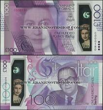 Gibilterra, 2015,100 libbre, la Regina Elisabetta II, UNC, polimero @ EBS