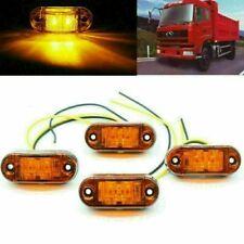 4X Front Side Marker Indicator Lights 12V 24V Car Truck Van Trailers Waterproof