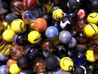 "Glass Shooter Marbles 1"" Bulk Assorted Mega Lot Set of 20"