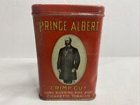 Prince Albert Crimp Cut Long Burning Pipe & Cigarette Tobacco Empty Red Tin