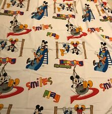 Mickey Mouse Disney Clubhouse Playground Twin TOP FLAT Sheet Donald Duck Goofy