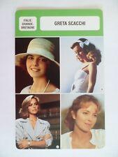 CARTE FICHE CINEMA  GRETA SCACCHI