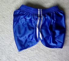 Blue French Silky Nylon Running/Cheer/Beach Extremely SHORT Shorts Fits 24-29