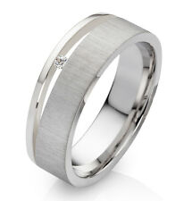 Verlobungsring Antragsring Damenring 925 Silber echtem Diamant Ring Gravur D002