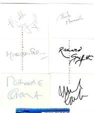 More details for 6 x vintage assorted vintage signed cards aftal#145