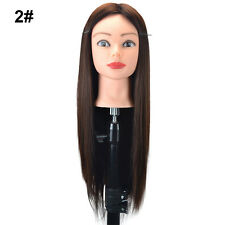 Practice Training Head Human Long Hair Model Hairdressing Mannequin With Holder