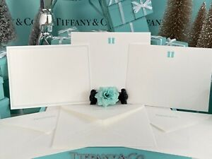"Tiffany&Co Notecard Envelope Lot Of 3 Blue Present Box Blue Boarder 4.5""x6"""