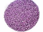 50g 2mm 11/0 Glass Seed Beads - PURPLE Silver Lined
