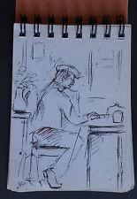 JEAN PAUL ULYSSE (1925/2011)  - CARNET A DESSIN - PORTRAITS   - Signé