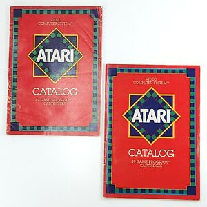 Lot of 2 Vintage 1982 Atari Catalogs 49 Game Program Cartridges Revision E