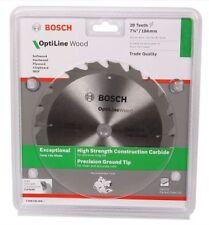 """4 x Bosch Optiline Wood Circular Saw Blade 9 1/4"""" - 235mm 20 Teeth Fast Cut"""