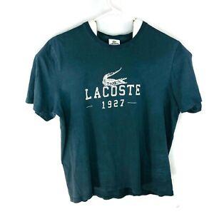 Lacoste 1927 T Shirt Mens Lacoste Size XL Distressed BlueGrey Cotton
