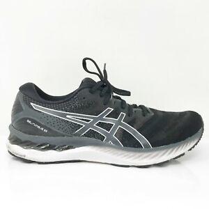 Asics Mens Gel Nimbus 23 1011B004 Black Gray Running Shoes Lace Up Size 10.5