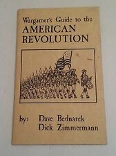 Z & M Enterprises Wargamer's Guide to American Revolution rare ..(C6B5)