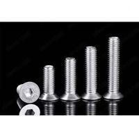 M6 Aluminum Alloy 6061 Allen Bolt Hex Socket Countersunk Flat Head Screw DIN7991