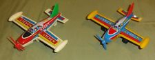 (2) Shinwa Friction Toy Plane Lot [used] Made In Japan