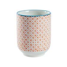 Hand Printed Porcelain Mug Tea Coffee Cups 280ml Orange