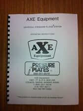 Axe Pressure Plates Cylinder Head Pressure Tester Manual