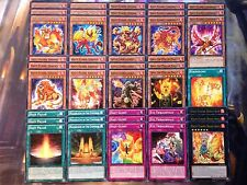 Yugioh Tournament Ready To Play Hazy Flame 43 Card Deck Fire XYZ Basiltrice NM