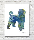 PORTUGUESE WATER DOG Contemporary Watercolor Abstract ART Print by Artist DJR