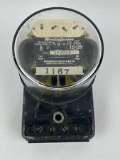 Vtg 1930s Westinghouse Oc Watthour House Utility Electrical Meter Steampunk