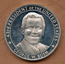 COINS / SILVER / ARGENT / THE UNITED STATES OF AMERICA PRESIDENT GEORGES BUSH