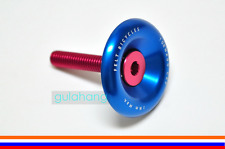 FELT Bicycles Stem 1 1/8 Inch Headset Tornado BLUE Top Cap 28.6mm Cover w/Bolt