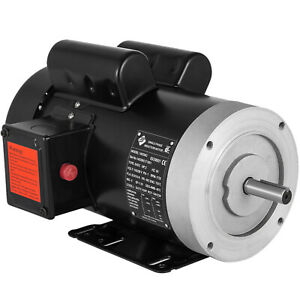 "2HP Electric Motor, 5/8"" Shaft General Purpose, 1 Phase, 115/230V, 56C, 1800RPM"