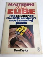 Mastering Rubik's Cube By Don Taylor 1980 Paperback Puzzle Solutions Vintage