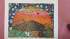 """Hundertwasser """"Der Weg..."""" 10 Farben Reproduktion, limit.Auflage, auf Bütten"""