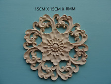 Decorative wooden round centre furniture moulding appliques onlay CC78