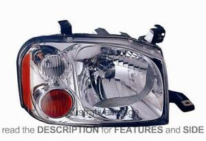 LHD Headlight For Nissan Pick-Up 720 Np300 D22 2002-2005 Left Side Chromed