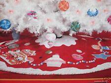 Dept 56 Glitterville Tree Skirt Christmas Candy Gingerbread