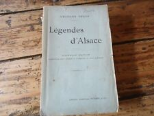 RARE LEGENDES D'ALSACE GEORGES SPETZ POEME LEGENDE 1912 CHATTE BLANCHE DIABLE