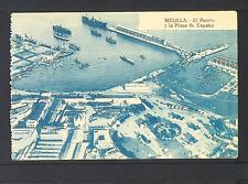 2263.-MELILLA -El Puerto y la Plaza de España