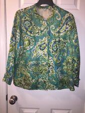 Womans 1 X Silk/ Linen Button Front Jacket/ Blazer By Laura Ashley Woman