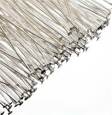 200 Headpins plata plateado 40 Mm X 0.7 mm cabeza Pins