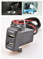 Dual USB Charger & Audio Input Port Interface for Nissan Cars Blank Switch Hole