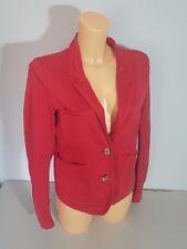 CLOSED Veste Blazer POSH Taille 36/38 (I) Vintage Wash rouge comme neuf