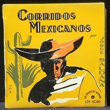 Jorge Saldana Corridos mexicanos : La Cucaracha... 17 cm 7'' LP VG++, CV EX