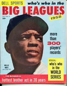 1958 Who's Who in the Big League Willie Mays em/nm bxmag1