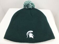 Michigan State Spartans Skull Knit Beanie Hat with Pom Top - College NEW Adult