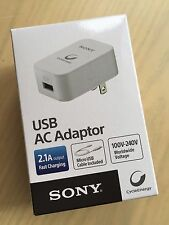 NEW SONY USB AC Adaptor Portable Charger (Micro USB Cable Included)