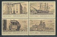 Usa - Mnh Block of 4 Stamps -1971 Historic Preservation.#1440 - 1443