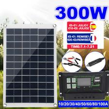 300W Solar Panel Kit 12/5V Flexible RV Monocrystalline Watt Charger Controller
