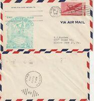 US 1949 FIRST FLIGHT FLOWN COVER BARTLESVILLE OK TO TULSA OK